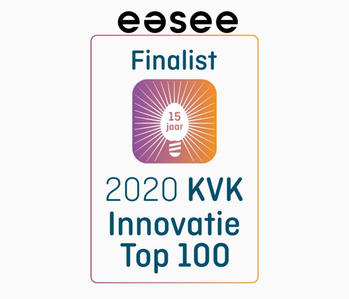 Easee eindigt op derde plaats KVK Innovatie Top 100 van 2020